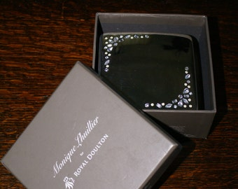 ROYAL DOULTON JEWELRY Box, Monique Lhuillier Silver Rhinestone Box