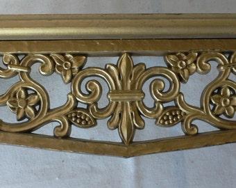 vintage Syroco shelf, ornate, plastic, decorative, Hollywood, from Diz has Neat Stuff