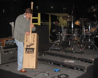 Bogdon Box Bass Kit 3 String Electric tuned to E-A-D (2-string available by request) assembly required