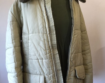 Vintage 1970's Montgomery Ward Men's coat with Faux Fur collar