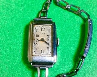 Elgin womens watch vintage antique wind up mechanical vintage watch NOT RUNNING