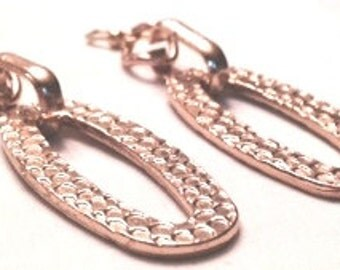 Earrings,Chunky Gold Dangle Earrings,Gold Tone Earrings Chunky Earrings,Statement Jewelry,Hammered Earrings,Hammered Metal by Cindydidit