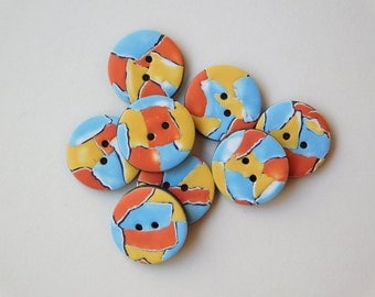 5/8 inch Buttons, 16 mm polymer clay buttons