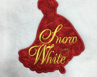 Snow White Silhouette Patch