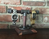 Industrial Pipe Watch Stand