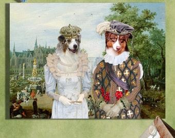 Australian Shepherd Art/Australian Shepherd Print/Aussie/CANVAS Print/Dog Portrait/Dog Painting/Dog Art/Dog Print/Custom Dog Art