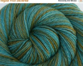 Luxury Hand Spun Yarn, 3 ply - SWIMMING WITH DOLPHINS - Handpainted Ultrafine 15.5μ Merino wool, Fingering weight, 494 yards