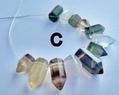 LAST SET!  Fluorite Mini Points, Side Drilled, 12 pcs, Energetic Stones