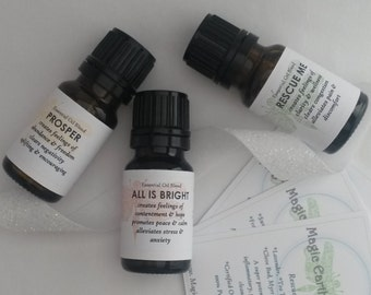 Aromatherapy Blends Trio Pack - Healing, Relieving, Calming, Brightening, Mood enhancing - natural first aid, organic essential oils