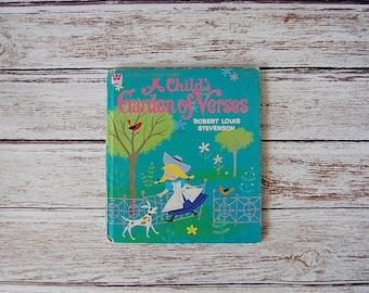 A Child's Garden of Verses Book, Robert Louis Stevenson, Vintage Kid's Books, Vintage Whitman Tell A Tale Book