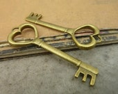 20pcs 18x51mm The Key  Antique Bronze Retro Pendant Charm For Jewelry Bracelet Necklace Charms Pendants C5348