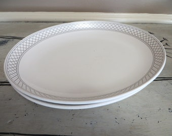 Shendango Serving Plates Serving Platters Grey Grid Pattern Modern Grey Modern Plates Kitchen Plates Dinner Platter Serving Dish