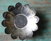 Leonard Metal Flower Footed Dish, Vintage Pedestal Metal Dish, Lotus Flower Bowl, Silver Plated Bowl