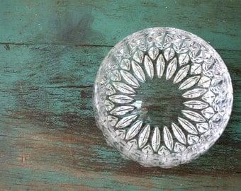 Cut Glass Bowl, Vintage Cut Glass Bowl, Cut Glass Crystal Dish