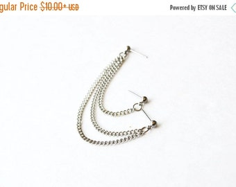 VALENTINES DAY SALE Silver Multi-Pierce Cartilage Earring (Single-Side)