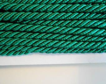 Cord Twisted Satin Pine Green 3 yards