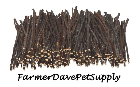 250 Premium Apple Skinny Chew Twigs For Rabbits, Guinea Pigs, Chinchillas, Gerbils, Hamsters,,,,,,