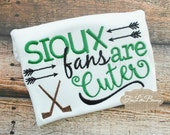 Sioux - Fighting Sioux - Sioux fans are cuter - hockey fan - ND - North Dakota - NDSU - MN - baby shower gift - hockey - go sioux
