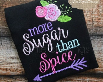 More sugar than spice - little girls are made of - baby shower gift - newborn girl - baby girl shirt - Christmas gift - brand new baby
