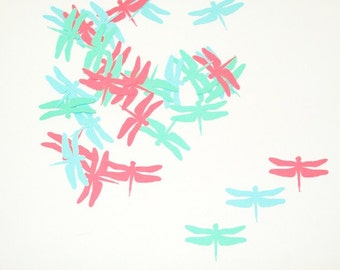 Dragonfly Confetti/ Happy Birthday/ Girl Birthday/ Table Confetti/ Party Supplies/ Birthday/ / 100 Pieces