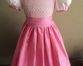 Top Bottom Different Colors, Smocked Silk Sunday Best and Cinderella Sash Dress, Two/Three Colors