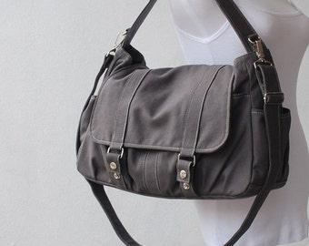 Halloween SALE - 30% Pico2 in Dark Grey (Water Resistant) Laptop / School Bag / Shoulder Bag / Messenger Bag/Diaper Bag/ School Bag/ Women /