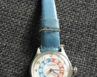 vintage childs watch educational by tinytime
