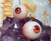 Amber Eyeball Pendant