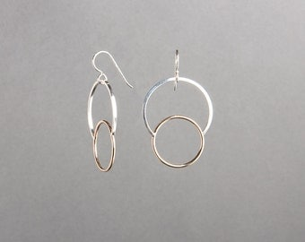Gold-fill and Silver Eclipse Earrings | Voyager Collection from Haley Lebeuf