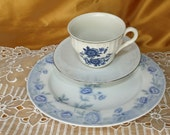 Vintage & newer Mismatched Teacup, Saucer, and luncheon / salad plate, trio, tea party, mix and match, Noritake, Wedgwood