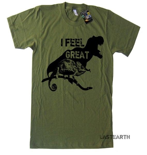I Feel Great T Shirt Funny Dinosaur TShirt Happy T Shirt Motivational Fitness Mens Womens Kids TShirts Birthday T Shirts Gifts Funny Tshirts