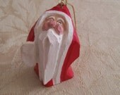 Barefoot Santa Ornament Department 56 Vintage Wood Santa Claus Choose Style With or Without Bell