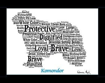 Komondor,Komondor Art,Komondor Artwork,Komondor Print,Komondor Lover,Komondor Gift