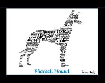 Pharoah Hound,Pharoah Hound Art,Pharoah Hound Artwork,Pharoah Hound Print,Pharoah Hound Lover,Pharoah Hound Gift, Pharoah Hound print