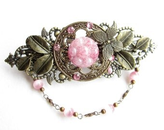 Haarspange,Vintage,hairclip,hair accessoires,rosa,Floral Hair Clip,Romantic,Shabby Chic
