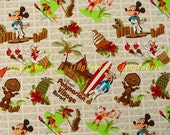 C331 - 140cmx100cm Cotton Poplin Fabric - Mickey, Donald Duck,tree, fruit