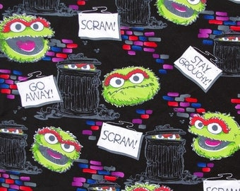C194 - 1 meter  Cotton  Fabric - aCartoon characters and trash (145cm width)