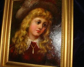 Scottish Girl Oil Painting