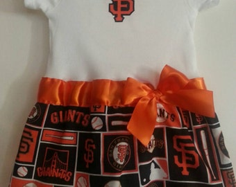 San Francisco Giants inspired baby girl outfit