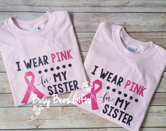 I Wear Pink For * Breast Cancer Shirt * Pink Ribbon Shirt * Breast Cancer Awareness Shirt * Survivor * Adult Short Sleeve T-Shirt (pink)