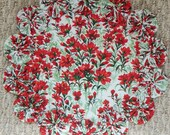 Red Wildflower 12-inch Doily