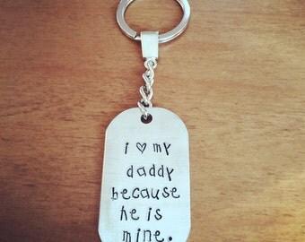 I love my daddy key ring...