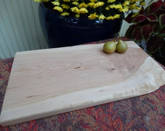 Cherry cutting board - natural wood cutting board - live edge