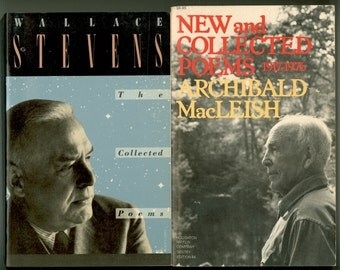 Two Great American Poets :  Wallace Stevens and Archibald MacLeish, Two Trade paperbacks, Two Vintage Books First Printings