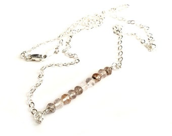 Kids On The Playground - Rutilated Copper Quartz Wire Wrapped Pendant Sterling Silver Jewelry