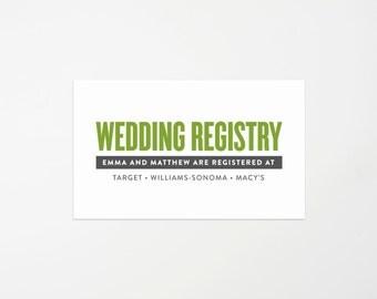 Old Fashioned Wedding Registry Enclosure Card