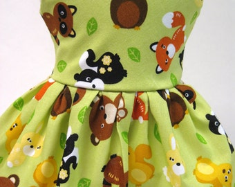 Baby Animals Sleeveless Dress for your American Girl Doll C