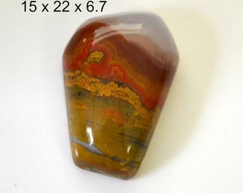 Moroccan agate cabochon. 15 x 22 x 6.7.  high polish and colorful