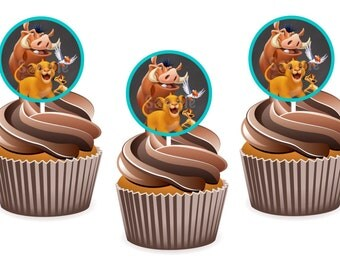 INSTANT DOWNLOAD: Lion King Cupcake Toppers / Tags