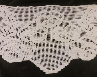 Vintage Doily Old Linen Crocheted Couch Back Linen Vintage Lace